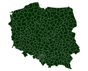 vector map of poland - hi detailed