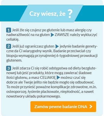 Dieta bezglutenowa a diagnostyka celiakii